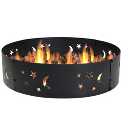 "Big Sky 36"" Wood Burning Campfire Ring - Round - Sunnydaze Decor"