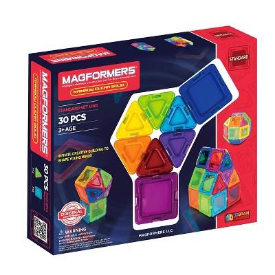 Magformers Opaque Rainbow 30 PC Set