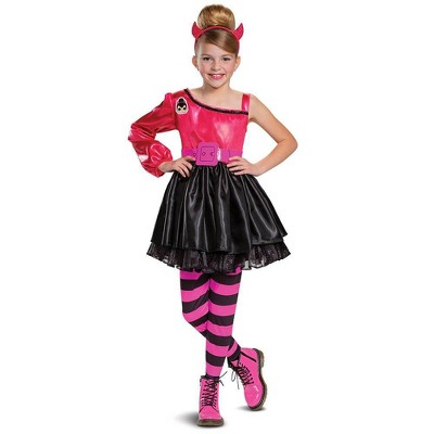 Kids Deluxe L O L Surprise Spice Halloween Costume Dress L 10 12 Target