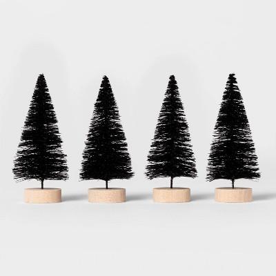 4pk Bottle Brush Tree Black Halloween Decorative Sculpture Set - Hyde & EEK! Boutique™