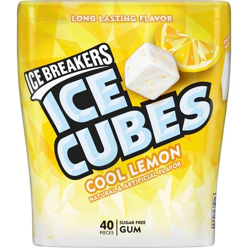 Ice Breakers Ice Cubes Cool Lemon Sugar Free Gum - 40ct - image 1 of 2