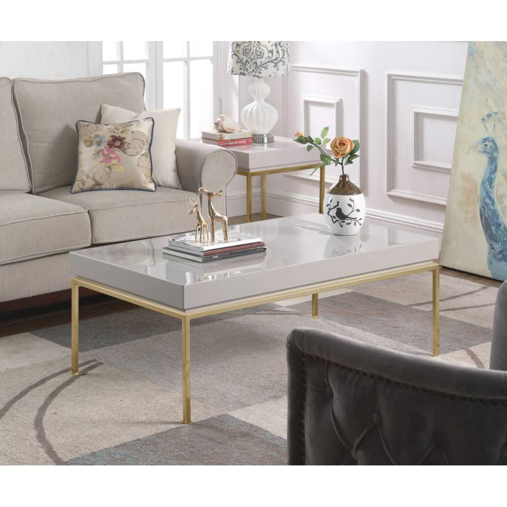 Alcestis Side Table Gray - Chic Home Design was $739.99 now $443.99 (40.0% off)