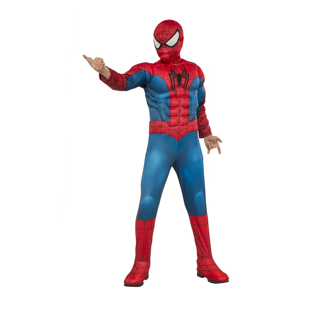Spider-Man Deluxe Muscle Boys' Costume S (4-6), Multicolored