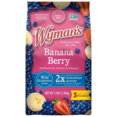 Wyman's Frozen Banana Berry and Wild Blueberries - 48oz - image 1 of 1