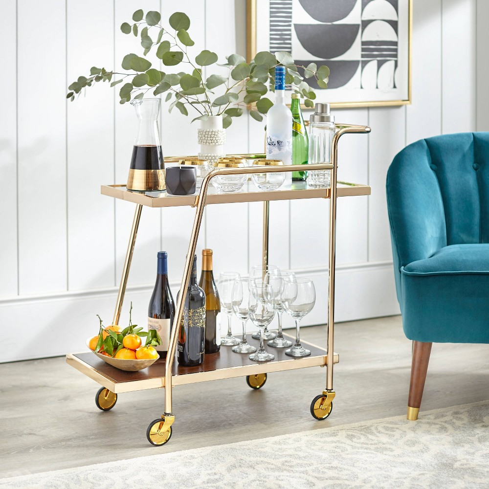 Image of Dorset Bar Cart Bright Gold - angelo : Home