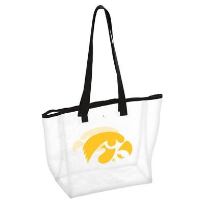 NCAALogo Brands PVC Stadium Tote Bag Iowa Hawkeyes