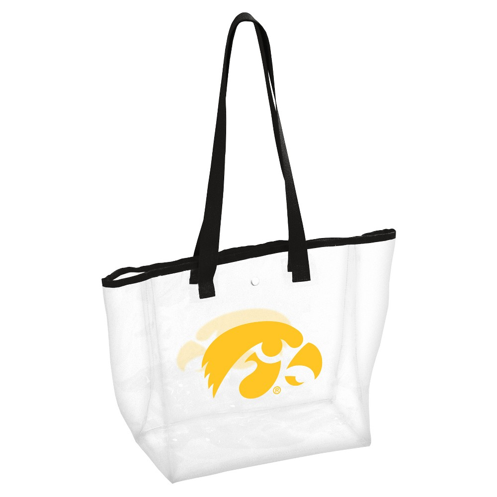 NCAALogo Brands PVC Stadium Tote Bag Iowa Hawkeyes, Adult Unisex