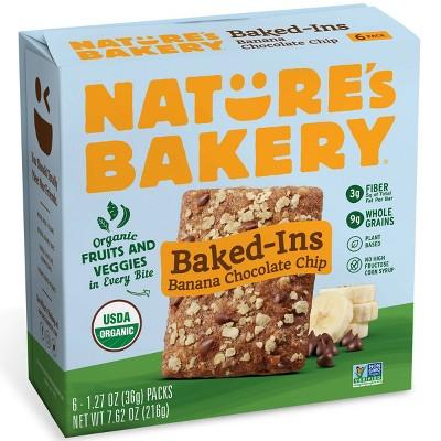 Nature's Bakery Baked-Ins Organic Banana Chocolate Chip - 7.62oz