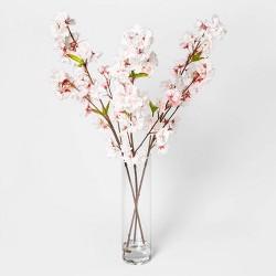 "27"" x 14"" Artificial Cherry Blossom Arrangement Pink/White - Threshold™"