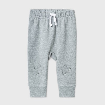 Baby Boys' Star Knee Jogger Pull-On Pants - Cat & Jack™ Gray 0-3M