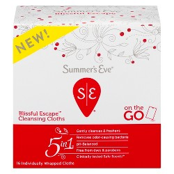 Summer's Eve Blissful Escape 5-in-1 Feminine Wipes - 16ct