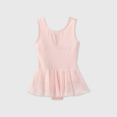 Girls' Dance Skirted Leotard - More Than Magic™ Pink