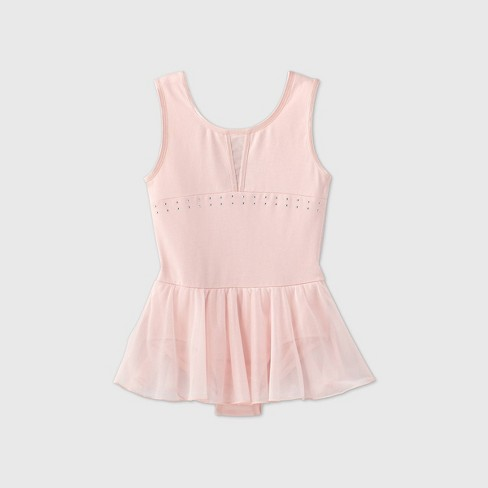 Girls' Dance Skirted Leotard - More Than Magic™ Pink - image 1 of 2