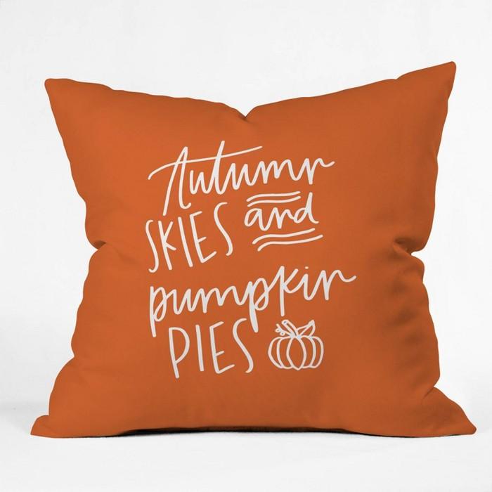 Chelcey Tate Autumn Skies Throw Pillow Orange - Deny Designs - image 1 of 1