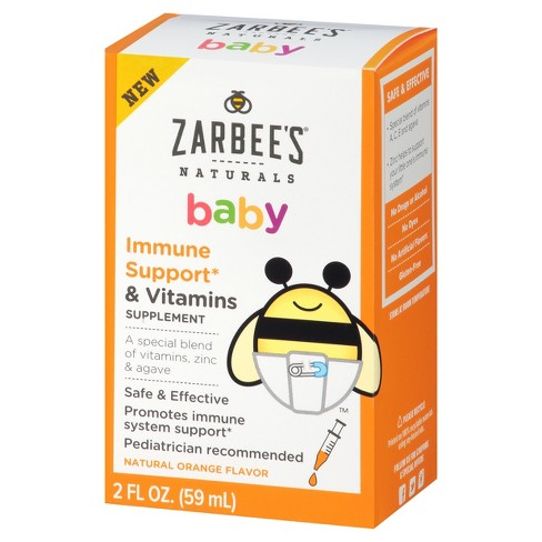 Zarbee's Naturals Baby Immune Support + Vitamins Supplement Drops - 2 fl oz - image 1 of 5
