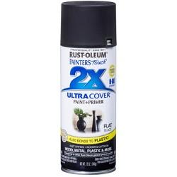 Rust-Oleum 12oz 2X Painter's Touch Ultra Cover Flat Spray Paint Black