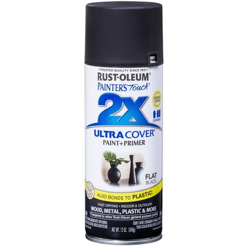 Rust-Oleum Painter's Touch 2X Ultra Cover Flat Black Spray Paint 12oz