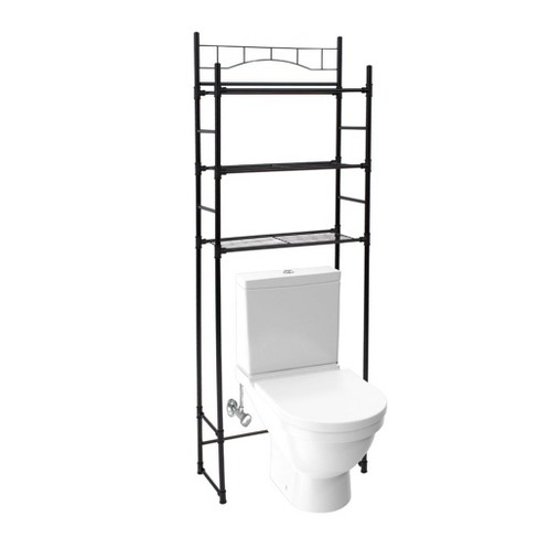 Juvale 65 Inch 3 Tier Over The Toilet, Black Bathroom Space Saver