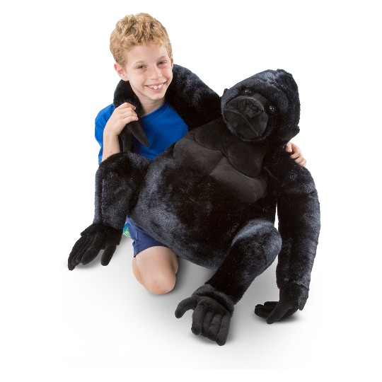 Melissa & Doug Giant Gorilla - Lifelike Stuffed Animal (over 2 feet tall) image number null