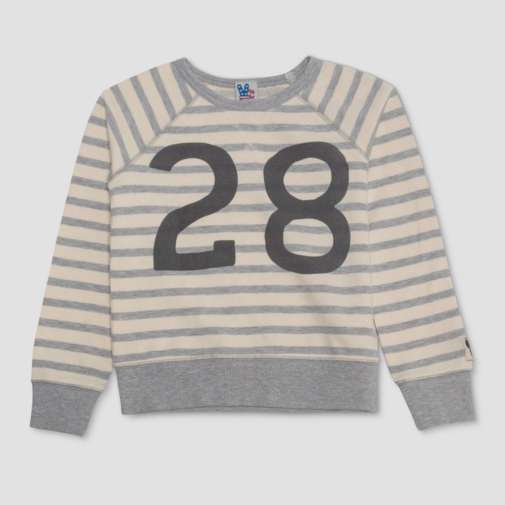 Image of Junk Food Boys' Mickey Mouse Lounge Sweatshirt - White/Gray L, Boy's, Size: Large