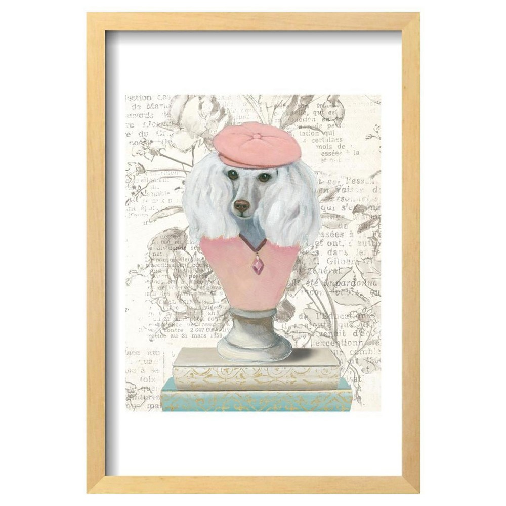 Canine Couture Newsprint Iv By Emily Adams Framed Poster 13