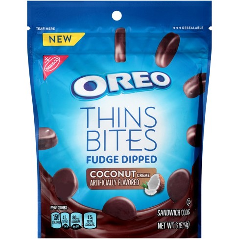 Oreo Thin Bites Fudge Dipped Coconut Creme Sandwich Cookies - 6oz - image 1 of 2