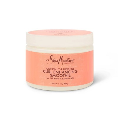 SheaMoisture Smoothie Curl Enhancing Cream for Thick Curly Hair Coconut and Hibiscus - 12 fl oz
