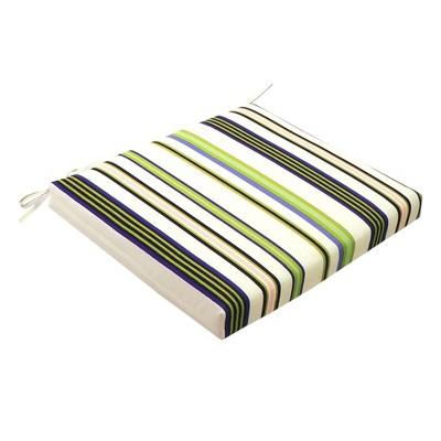 Outdoor Seat Cushion DuraSeason Fabric™ Green Stripe - Threshold™