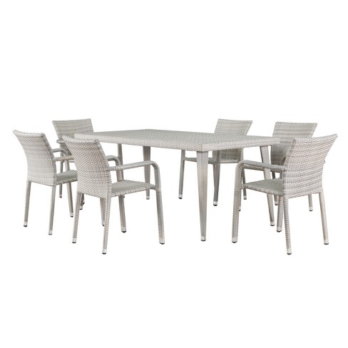 Rutledge 7pc Wicker Dining Set - Christopher Knight Home - image 1 of 4