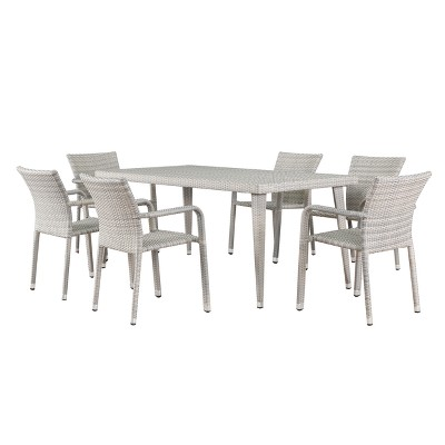 Rutledge 7pc Wicker Dining Set   Christopher Knight Home