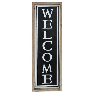 Welcome Wall Décor Black (7 x20 )- VIP Home & Garden