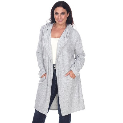Women's Plus Size North Cardigan - One Size Fits Most Plus - White Mark