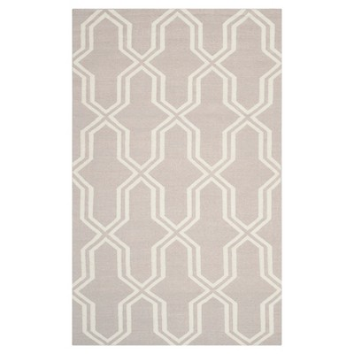 4'X6' Geometric Area Rug Gray/Ivory - Safavieh