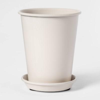 5  x 4  Enameled Metal Planter Cream - Smith & Hawken™