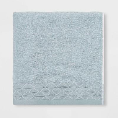Diamond Band Terry Bath Towel Aqua - Threshold™