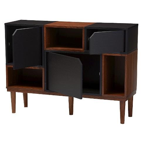 Anderson Mid-century Retro Modern Wood Sideboard Storage Cabinet - Oak/Espresso - Baxton Studio - image 1 of 4