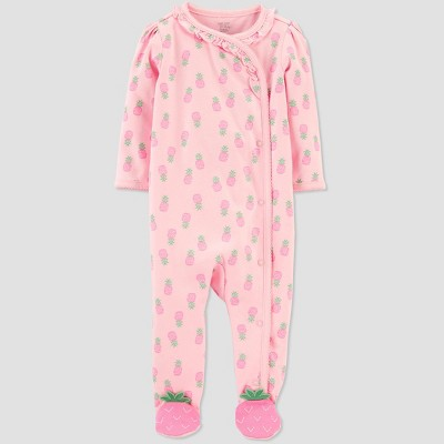 Baby Girls' Pineapple One Piece Pajama - Just One You® made by carter's Pink 3M