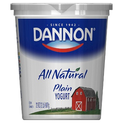 Dannon All Natural Plain Yogurt - 32oz