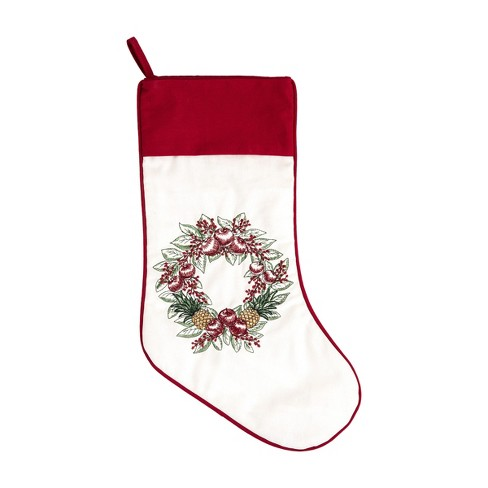 C&F Home Pineapple Wreath Stocking - image 1 of 1