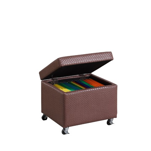 Ore International Storage Ottoman With Caster Wheels Target