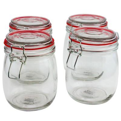 General Store Cottage Chic 4 Piece 22 oz. Preserving/Storage Jar Set