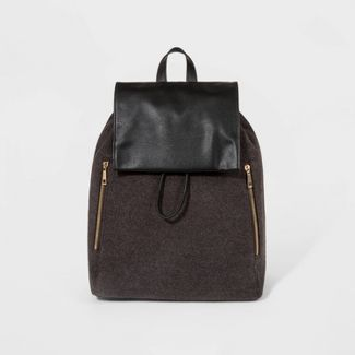 Woolen Flap Backpack - A New Day™ Charcoal