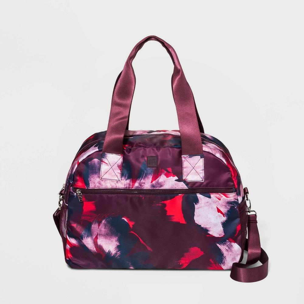Image of Floral Print Weekender Bag - JoyLab Burgundy, Women's, Size: Small, MultiColored