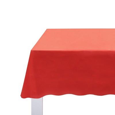 "108"" x 52.2"" Classic Scalloped Edge Plastic Table Cloth Red - Spritz™"