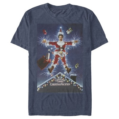 Men's National Lampoon's Christmas Vacation Electrified Poster T-Shirt