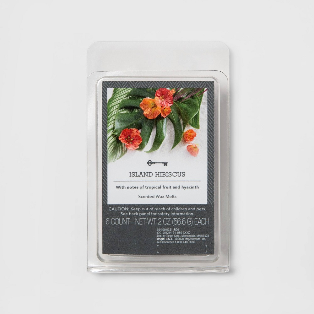 6ct Island Hibiscus Scented Wax Melts Threshold 8482