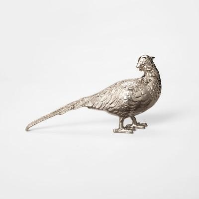 Decorative Bird Figurine - Silver - Threshold™