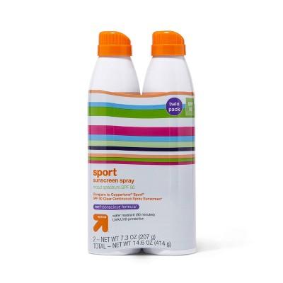 Sport Sunscreen Spray Twin Pack - SPF 50 - 7.3oz each - up & up™