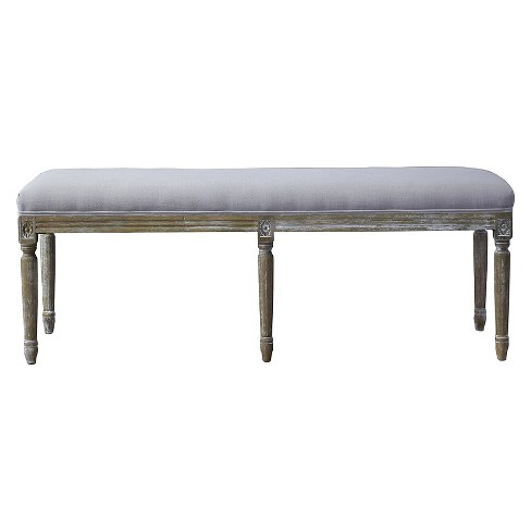 Clairette Wood Traditional French Bench - Baxton Studio - image 1 of 4