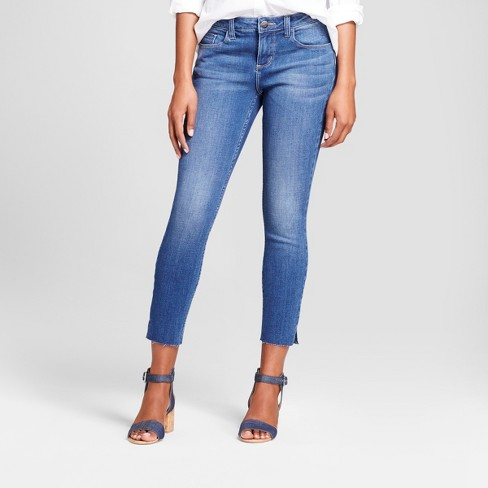 Women's Modern Fit Raw Hem Skinny Crop Jeans - Crafted by Lee® - image 1 of 5